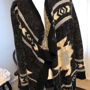 Bcbg maxazria sz large open front sweater cardigan